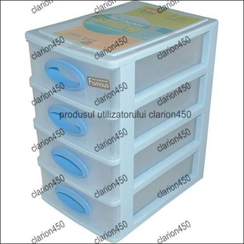 Raft din plastic cu 4 sertare-7841