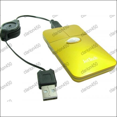 Mouse optic plat, cu cablu extensibil-4534